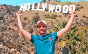 Monsieur Jetlag, lors d'un voyage à Hollywood
