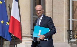 Le ministre de l'Education national Jean-Michel Blanquer  devant l'Elysée le 7 juin 2017.