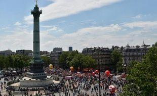 Manifestation contre la loi travail, le 23 juin 2016 sur la place de la Bastille à Paris