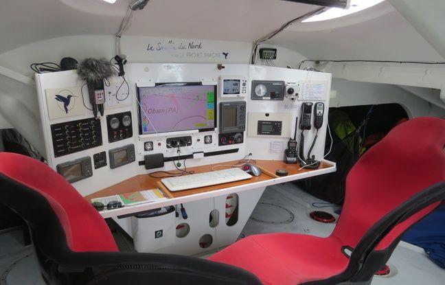 La cabine depuis laquelle Ruyant va gérer sa course