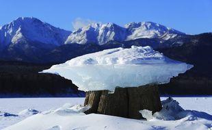 Le lac Nukabura, à Hokkaido, au Japon, où s'est blessé un Français jeudi 30 janvier 2020.