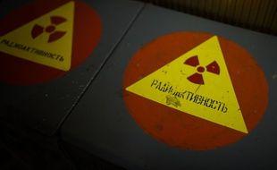 A l'intérieur de la chambre de contrôle de l'ancienne centrale de Tchernobyl.