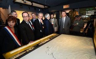 François Hollande au mémorial du Mont Faron, le 17 mars 2016.