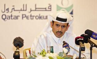 Saad Sherida al-Kaabi, le nouveau ministre de l'Energie du Qatar, en conférence de presse à Doha, le 11 juillet 2017.