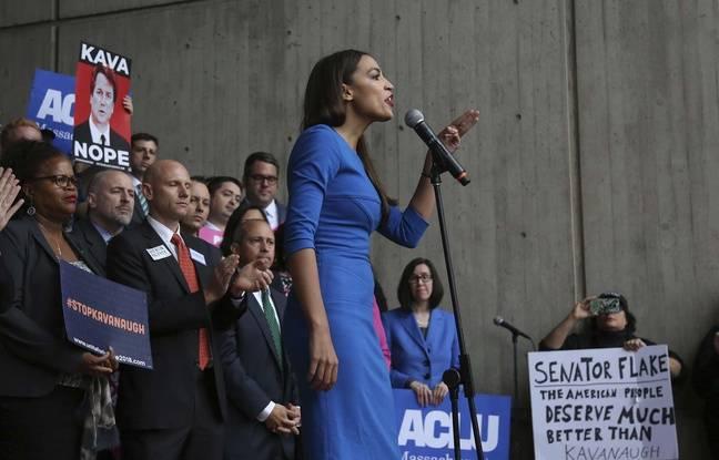 Alexandria Ocasio-Cortez, candidate démocrate à la Chambre des représentants, le 1er octobre à Washington.