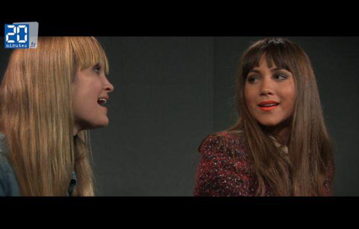 Leslie et la choriste Hanna Hagglund en live à la rédaction – JD-TL / 20 Minutes