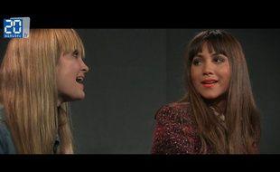 Leslie et la choriste Hanna Hagglund en live à la rédaction