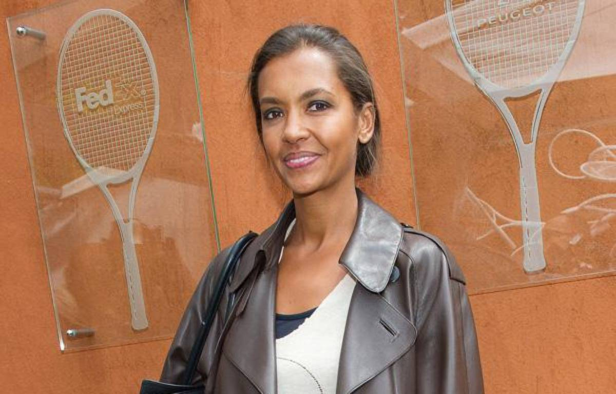 Karine Le Marchand dans les allées de Roland-Garros, à Paris, le 5 juin 2012. – NIVIERE/SIPA