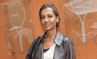 Karine Le Marchand dans les allées de Roland-Garros, à Paris, le 5 juin 2012.