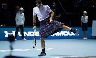 Roger Federer dans sa nouvelle tenue pour 2018.
