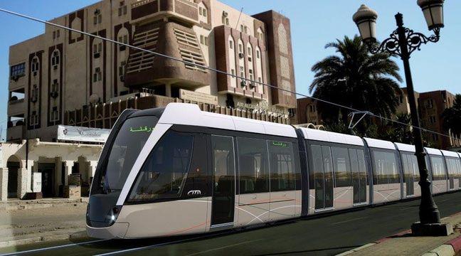 video la rochelle alstom a con u des tramways bien particuliers pour circuler aux portes du sahara. Black Bedroom Furniture Sets. Home Design Ideas