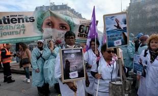 """Une manifestation des hospitaliers est prévue jeudi 14 novembre 2019 à Paris pour """"sauver"""" l'hôpital public."""