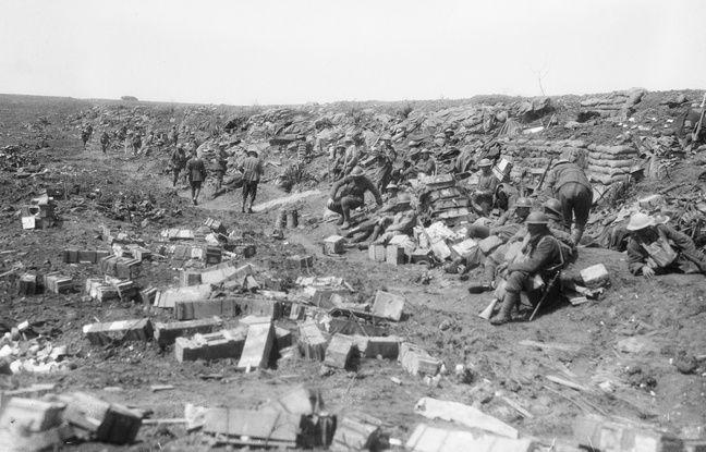 Talus où les deux soldats australiens ont trouvé la mort, en mai 1917.