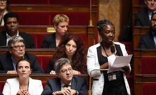 Danièle Obono à la tribune de l'Assemblée nationale.