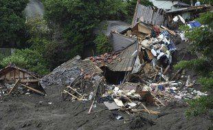 Les coulées de boue ont dévasté Atami, au Japon, en juillet 2021.