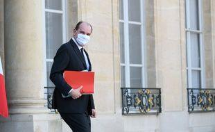Le Premier ministre Jean Castex à sa sortie de l'Elysée, le 24 février 2021.
