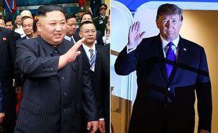 Kim Jong-un et Donald Trump à leur arrivée à Hanoï, au Vietnam, avant leur sommet qui démarre le 27 février 2019.
