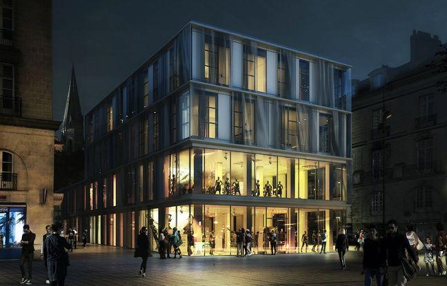 Le bâtiment devant être érigé à l'emplacement du square Fleuriot à Nantes.