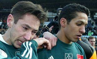 A droite, Hatime Mounawar, ancien joueur de Schiltigheim