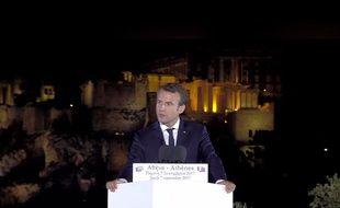 Emmanuel Macron à Athènes le 7 septembre 2017.