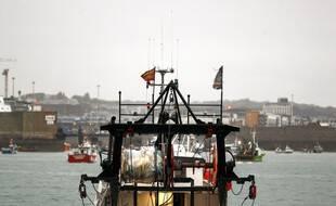 Les bateaux de pêche français lors de leur manifestation à Jersey, en mai 2021. (archives)
