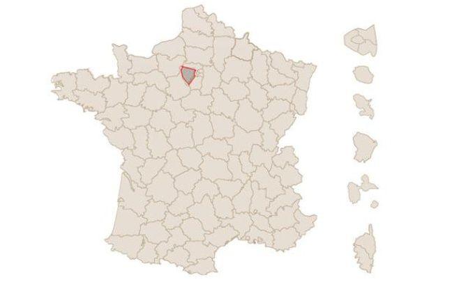 Capture d'écran de la carte des résultats du premier tour de l'élection de 2012