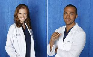 Sarah Drew (Dr April Kepner) et Jesse Williams (Dr. Avery Jackson) dans «Grey's Anatomy».