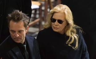 David Hallyday and Sylvie Vartan  Funeral ceremony in tribute to late French singer Johnny Hallyday at the La Madeleine Church in Paris, FRANCE -09/1/2017//JACQUESWITT_witt17381347/Credit:WITT/SIPA/1712091822