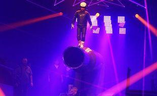 L'Homme Fusée, est un spectacle qui revisite l'Homme Canon, au cirque Arlette Gruss.