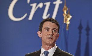 Manuel Valls au dîner du Crif le 7 mars 2016.