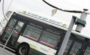 Illustration d'un bus au gaz.