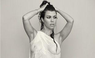Kourtney Kardashian en une du magazine DuJour