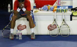 Rafael Nadal lors de sa défaite face à David Ferrer, le 26 janvier 2011 à Melbourne