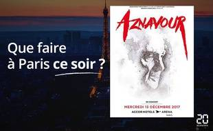 Charles Aznavour sera ce soir à Bercy.