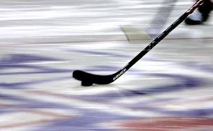 Illustration d'une crosse de hockey sur glace.