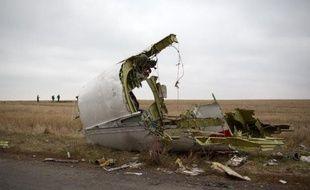 Des débris de l'avion du vol MH17 à Grabove en Ukraine le 11 novembre 2014