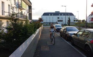 Désormais, Marine utilise son vélo dès que possible.