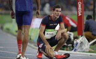 Pierre-Ambroise Bosse à l'arrivée du 800m des JO de Rio, en août 2016.