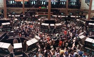 La Bourse de New York lors du krach d'octobre 1987.