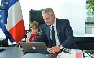 A Bercy, le ministre de l'Economie Bruno Le Maire a rencontré de très jeunes visiteurs.