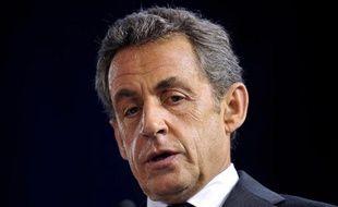 L'ancien président Nicolas Sarkozy le 15 octobre 2014 à Saint-Cyr-sur-Loire