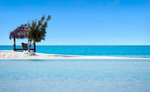 Une plage sur une île (illustration).