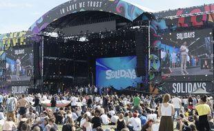 Le festival Solidays organisé par Solidarite Sida sur l'hippodrome de Longchamp.