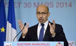 Le Premier secrétaire du PS Harlem Désir le 24 mars 2014 à Paris