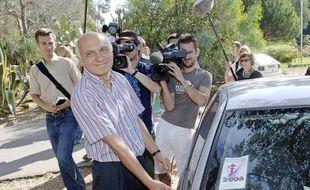 Jean-Louis Turquin à sa sortie de prison à Casabianda (Haute-Corse), en 2006.