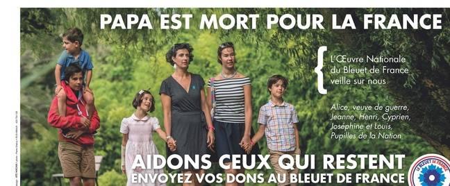 La famille Gaudin promeut les Bleuets de guerre.