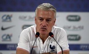 Le sélectionneur de l'équipe de France Didier Deschamps, lors d'une conférence de presse à Ribeirao Preto, au Brésil, le 1er juillet 2014.