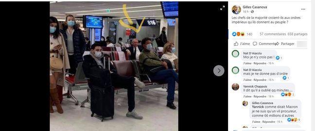 La photo a suscité l'ironie de nombreux internautes.