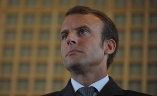 Le nouveau ministre de l'Economie, Emmanuel Macron, le 27 août 2014 lors de la passation de pouvoirs, à Bercy