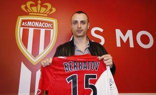 Dimitar Berbatov avec le maillot de Monaco, le 5 février 2014